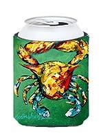Crab 2つスナップCanまたはボトル飲料Insulator Hugger