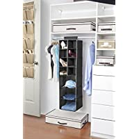 Kennedy Home Collection 5169 8 Pocket Shoe and 3 Shelf Sweater Hanging Combo Organiser,