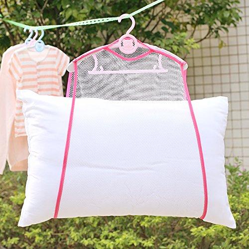 YingKu(英クール) 枕 ハンガー 枕干し ぬいぐるみ クッション 洗濯 乾燥 物干し (ピンク)