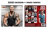 Dwayne Johnson Square Wallカレンダー2018+ Dwayne Johnson冷蔵庫マグネット