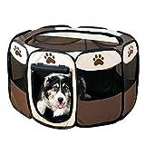 千楽 折り畳み 八角形ペットサークル 犬用ケージ ペット用品 犬猫 兼用 直径92cm
