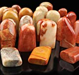 篆刻 印材 寿山石 印石 てんこく 材料 天然 石 楽しい 手彫り に 自然形 丸石 5個 セット