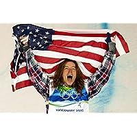 Shaunホワイトポスターフォト限定印刷チームUSA Winter OlympicsスノーボードセクシーCelebrity Athlete # 1 36 inch x 32 inch