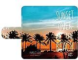 ハワイアン雑貨 【Haleiwa/ハレイワ】 iPhone6/6s スマホケース 手帳型ケース(SUNSET) ハワイ雑貨 お土産