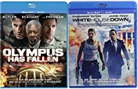 White House Down + Olympus Has Fallen Action Bundle Blu Ray Movie 2 Film Set