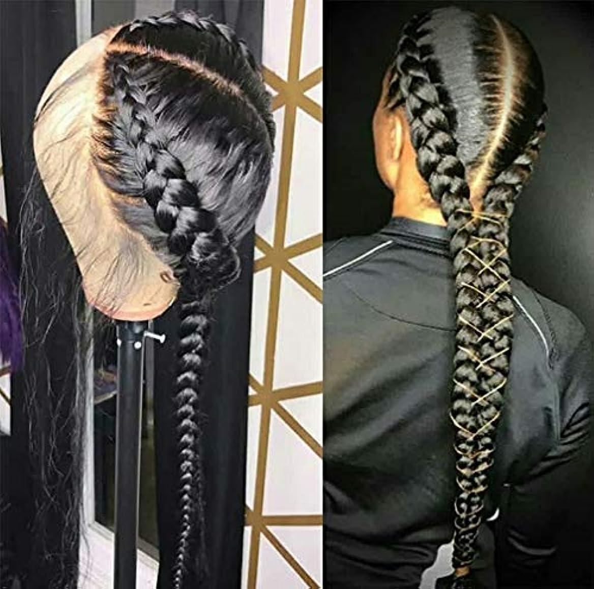 クリケット麻痺させるみすぼらしい女性かつらストレートヘアレース前頭ブラジルバージン人間の髪の毛のかつら人間の髪の毛150%密度