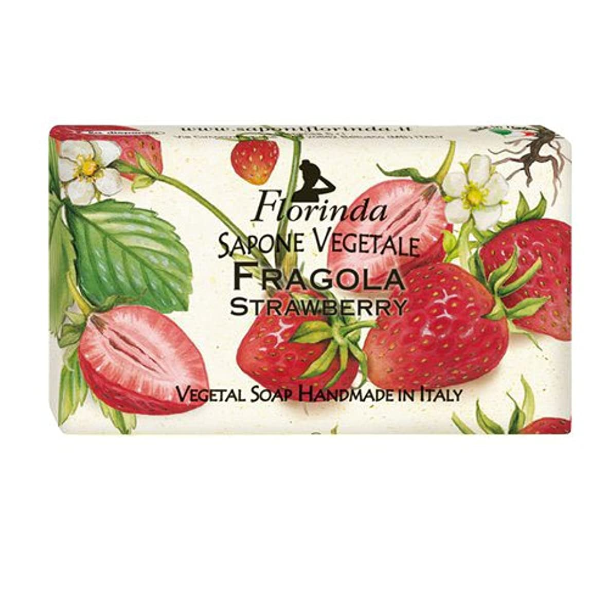 柔らかさ使用法メディアフロリンダ フレグランスソープ フルーツ ストロベリー 95g