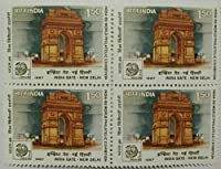 15 Aug. '87 40th Anniv. of Independence.Indian Stamp (Block of 4)