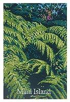 ポストカード・ハワイ Maui Island 絵画:パラパライ(Palapalai) 【島アート】