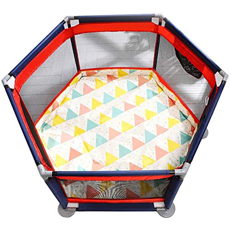 ベビーサークル, 赤ちゃんの遊び場の安全性遊び場遊び場の遊び場屋内の子供の遊びフェンスキッズアクティビティセンターゲームフェンス、赤+青