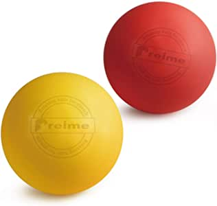 Preime Dr.relax Ball マッサージ ストレッチ ボール レッド・イエロー