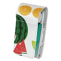 スマコレ IQOS専用 レザーケース 【従来型/新型 2.4PLUS 両対応】 専用 ケース カバー 合皮 カバー 収納 果物 バナナ メロン 013437