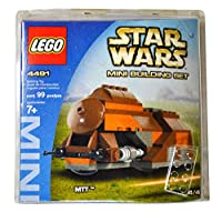 Lego Year 2003 Star Wars Series Mini Building Set # 4491 - Trade Federation Multi-Troop Transport MTT with Y-Wing Parts