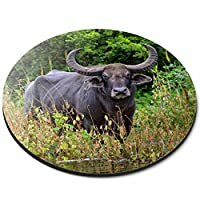 ラウンドマウスマット - 水牛野生動物庁のギフト - RM12766