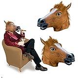 AYAMAYA  Halloween ハロウィン グッズ コスプレ アニマルマスク 仮面 馬 ホース horse 動物 かぶりもの 変身