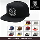 0910b1e1eab0a5 位, (ブリクストン) BRIXTON OATH 3 SNAPBACK CAP BLACK