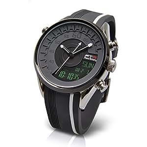 [フランテンプス]Franc Temps 腕時計 レーシング デジアナ表示 (グレー) 10気圧防水 FTRC-GY メンズ
