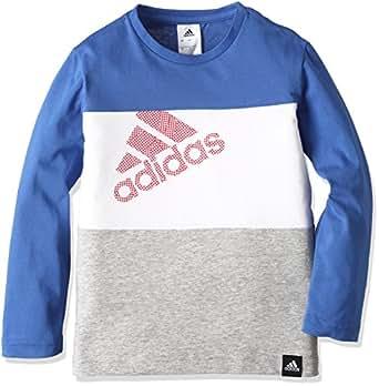 (アディダス)adidas トレーニングウェア カントリー カラーブロック 長袖Tシャツ BUE75 [ボーイズ] AZ6655 ブルー J110