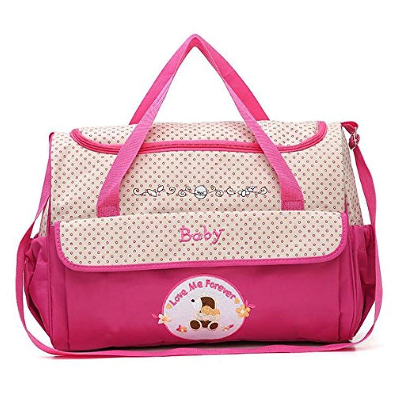 鍔落ちた二次ベビーおむつバッグトラベルバッグ、防水と絶縁多機能大容量ポータブルストレージバッグ,pink,small