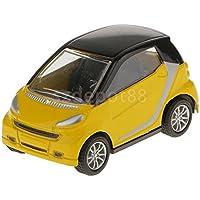 イエロー1 : 43スマート合金Dieキャストモデル車デスクコレクション子供おもちゃ