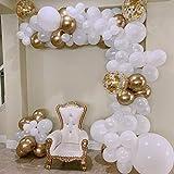 AlexBasic バルーンアーチキット バルーンガーランドデコレーション 112個 ガーランドストリップ&グルードット装飾 結婚式 ベビーシャワー 卒業式 記念日 誕生日 パーティー DIYデコレーション
