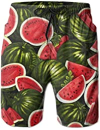 夏のスイカ メンズ サーフパンツ 水陸両用 水着 海パン ビーチパンツ 短パン ショーツ ショートパンツ 大きいサイズ ハワイ風 アロハ 大人気 おしゃれ 通気 速乾