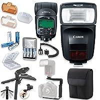 Canonスピードライト470ex-aiフラッシュCanonスピードライトケース+ TTLコード付き+フラッシュLブラケットグリップ+柔軟なSteady Pod + 4高容量充電式単三電池&充電器+アクセサリバンドル
