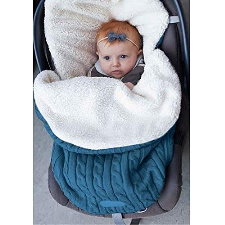 赤ちゃんベビーカー寝袋 秋冬季用 保温防寒 ベビー用寝袋 幼児用寝袋 新生児寝袋 ソファとベッドの毛布 柔らかい 快適 厚手 お出かけ、アウトドア、外出、旅行に対応 高品質 出産祝い プレゼント (F)