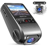 APEMAN ドライブレコーダー FHD 1080p 視野角170度 デュアルカメラ・Gセンサー・WDR・ループレコーディング・6Gレンズ・モーション検出など