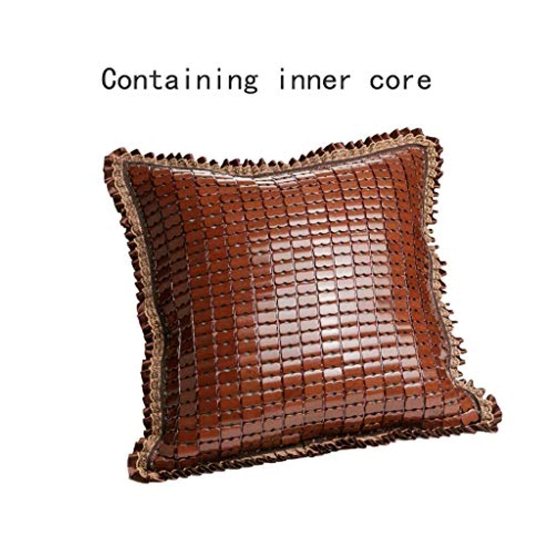 年金受給者貫通する支給LGQ-JF 竹マットの冷却クッション枕 - 竹炭充填、庭の椅子、ベンチまたはソファ装飾冷却パッド/防水パッドクッション枕カバー45 cm x 45 cm (色 : Brown b)