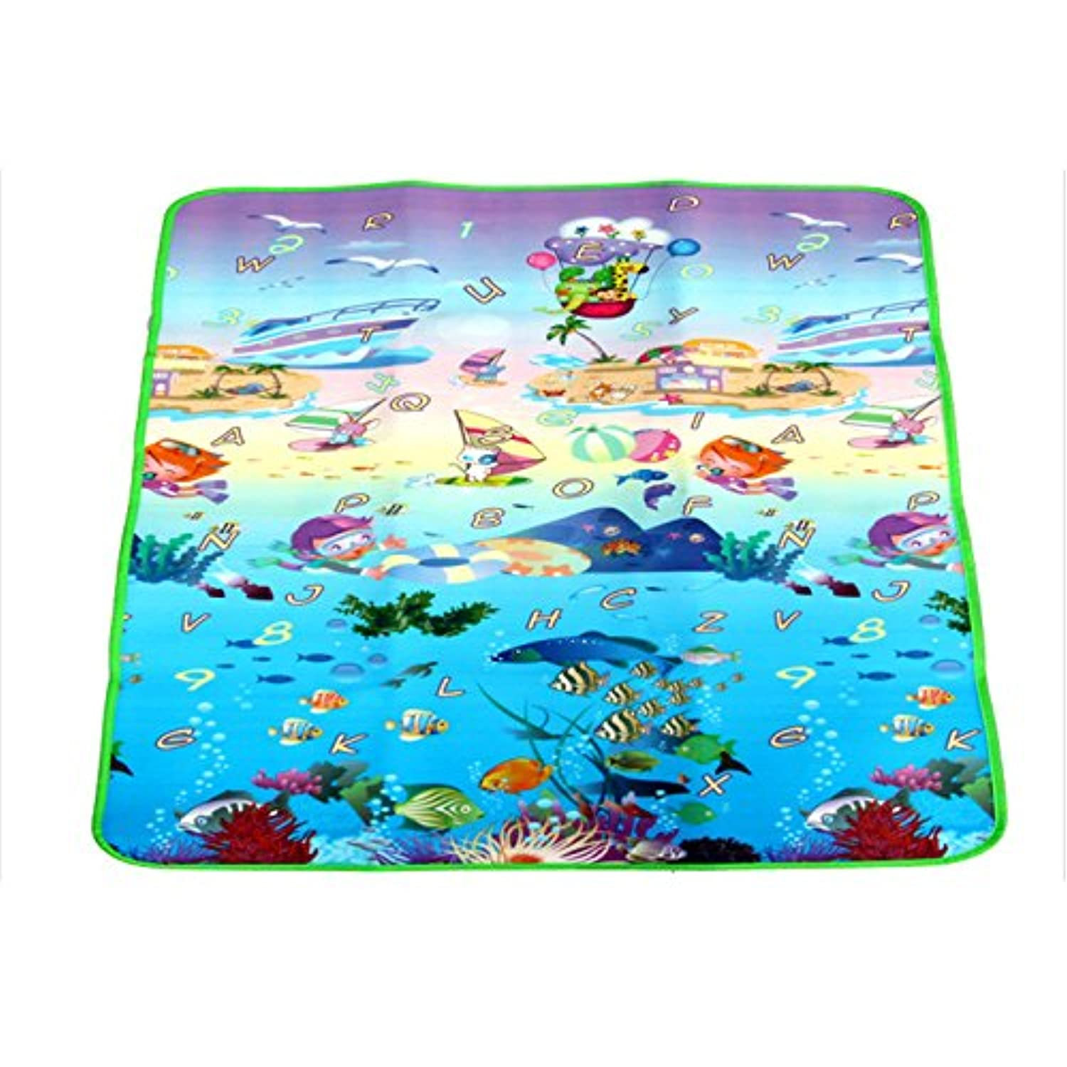 LuxBene(TM)200 * 180 CM Baby Toys Tapete Infantil Child Activity Play Mat Baby Game Pad Crawling Two Sides Ocean Game Climb Blanket