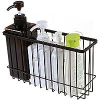 中空のデザイン、 シームレスなペースト、 パンチ、 強いと耐久性、耐久性 キッチン バスルーム デスクトップ ストレージ 2色選択 (ブラック)