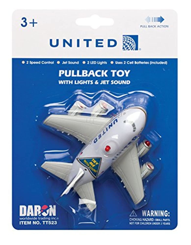 DARON プルバック ライト & サウンド ユナイテッド航空 完成品