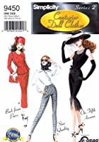 Simplicity 9450 Sewing Pattern Gene Tyler Couturier Doll Clothes [並行輸入品]