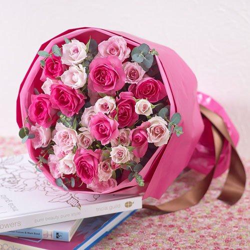 【日比谷花壇】花束「ローズ」 誕生日 結婚祝い 結婚記念日