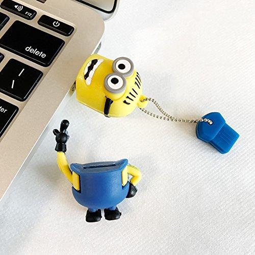 [해외]Ascendas 귀여운 미니언 즈 USB 메모리 8GB 열쇠 고리/Ascendas Cute Minions USB Memory 8GB Key Holder