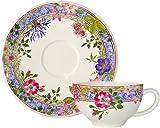 フランス伝統陶器 ジアン (Gien) ミルフルール ティーカップ & ソーサー 画像