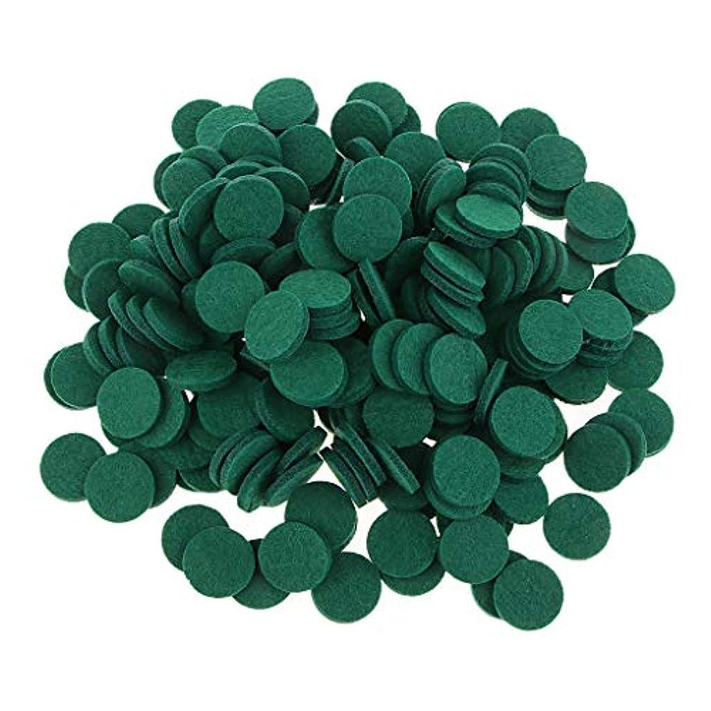 深遠ラップを通してFLAMEER ディフューザーパッド アロマパッド パッド 精油 エッセンシャルオイル 香り 約200個入り 全11色 - 緑