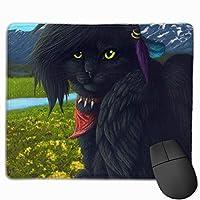 マウスパッド かっこいい 猫 富士山 グレー ゲーミング オフィス最適 おしゃれ 疲労低減 滑り止めゴム底 耐久性が良い 防水 かわいい PC MacBook Pro/DELL/HP/SAMSUNGなどに 光学式対応 高級感プレゼント Tartiny