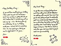 Quiplip Handwritten Yours Truly Birthday Cards 6-Pack (YT09156PCK) [並行輸入品]