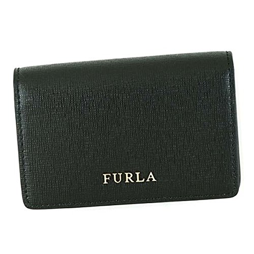 FURLA フルラ名刺入れ PS04 BABYLON S BUSINESS CARD CASE 874701 BLACK [並行輸入品]