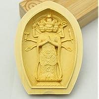 木彫仏像 懐中仏 馬頭観音守護本尊  柘植 ツゲ