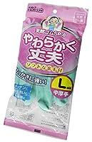 【まとめ買いセット】 天然ゴム 中厚 手袋 L 炊事手袋 グリーン 10双セット SP-8 L-G
