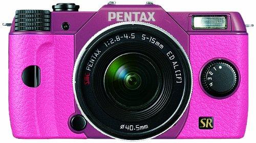 PENTAX ミラーレス一眼 Q7 ズームレンズキット [標準ズーム 02 STANDARD ZOOM] ピンク/ピンク 050 11814