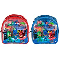PJ Masks パジャマスクリュックサック Coloring and Activity Backpack アートセット (ぬりえ クレヨン スタンプ ペン 文房具) 23cm