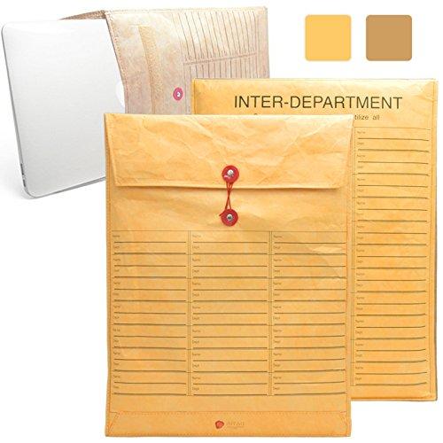 iNTAG MacBook 15 インチ 封筒 インナーケース スリーブ ケース マックブック Air Pro Retina 15.4 インナーカバー イエロー iN-ENV15JOBS-YE