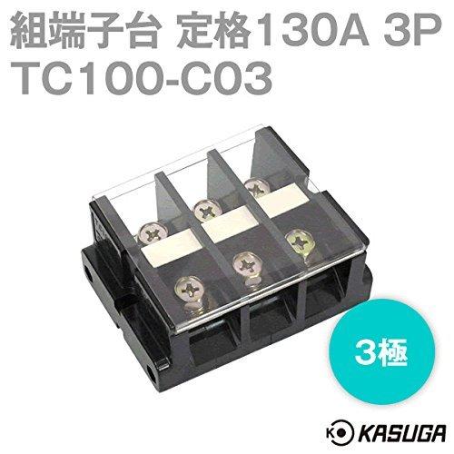 [해외]春日電機 세트 단자대 TC100-C03 볼트 마운트 3 극 산업용 단자대 NN/Kasuga set assembly terminal block TC100 - C03 bolt mount 3 pole industrial terminal block NN