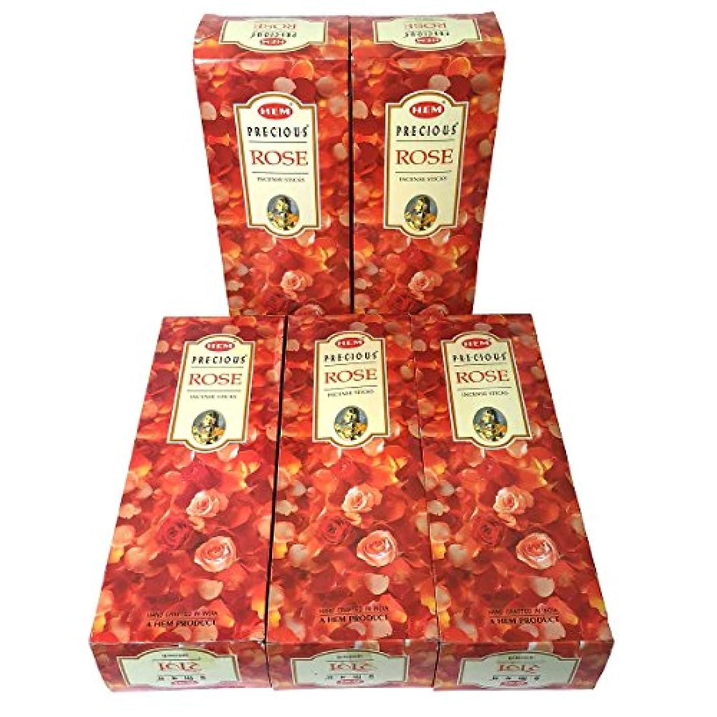 注入するテスト長椅子HEM プレシャス ローズ香 スティック 5BOX(30箱)/HEM Precious Rose// インド香 / 送料無料 [並行輸入品]