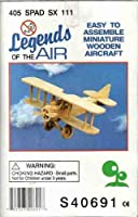 Legends of the Air 405 SPAD SX 111 Easy to assemble Miniature Wooden Aircraft (Hobby Airplane) by Legends [並行輸入品]