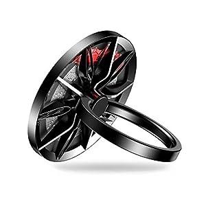 Baseus Wheel RING スマホ スピナーリング ホールドリング スタンド機能 落下防止 車載ホルダー 360回転 iPhone/Android各種他対応 (10スポーク) SULG-B1S
